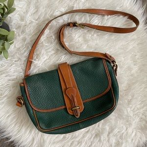 Vintage Dooney & Bourke hunter green shoulder bag